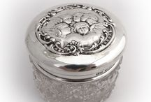Dresser Sets / Trays, bowls, and other silver for your dresser!