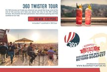 360 Twister tour / For 100 minutes we'll take wherever you would like to go, and at the end of the journey we'll take you above the city to the 360 rooftop terrace. We promise the best panoramic view without queuing and free coctail on our tab.