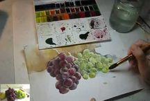 pintura aguarelas