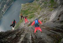 skydiving-base jump