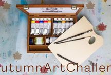 #AutumnArtChallenge Entries / To enter, please upload a picture of your autumnal oil painting via Twitter with the #AutumnArtChallenge, for the chance to win a Schmincke Mussini Artists Oil set complete with 11 different colours, 2 brushes, 1 medium, 1 charcoal, 1 palette and a beautiful, wooden box.