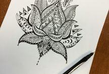 lotus mandala / lotus/triangle/rose/mandala