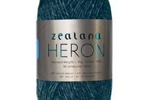 Zealana HERON Worsted / Robust and durable, Zealana HERON is made with 80% fine New Zealand merino and 20% brushtail possum, its's a great workhorse yarn perfect for that sweater or felting project.
