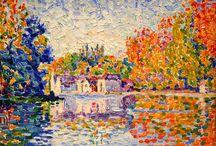 Paul Victor Jules Signac ( 1863 - 1935 ) Pintor francês autodidata / Movimento estético: Pontilhismo