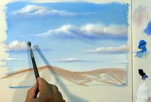 Pintura de nuvens/mar/ rios/lagos