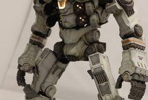 robot toys mood board