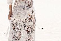 sukienki na szydełku