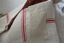 Vintage Hemp linen bags