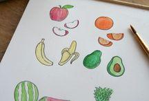Food Drawings - Visual Arts