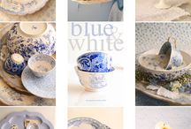 blue and white / by Trisha Bronson