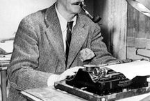 WRITERS AT THEIR TYPEWRITERS / Authors caught in the act of creation.