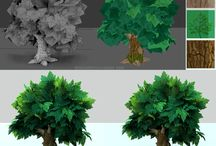 3D Trees / 3D Environment - trees