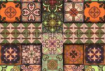 Portuguese tiles in talavera style