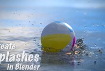 3D Blender simulation fluid