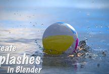 3D Blender simulation fluid