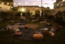 back yard par tay / by Heather Carassai