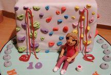 climbing wall cakes