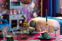 Boho tastic Interiors / Pow! Love contrasting colours of Boho...it has a real place in my inspiration for colour use.