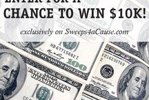 Sweeps4aCause / A $10,000 sweepstakes, with an additional matching $10,000 donation to a nonprofit of the winner's choice.
