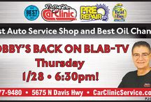 Bobby Likis Car Clinic on BLAB-TV / Tune in Thursdays at 6:30p on BLAB-TV for Bobby Likis Car Clinic.  We'll info-tain you in the automotive lifestyle and put wheels on your automotive know-how.  Then call 850-477-9480 or visit www.CarClinicService.com for more!