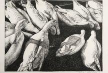 Mari Gwenllian Lloyd / Ink drawings