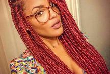 Cabelos Afro / Inspirações com cabelos naturais, cortes e as tranças afros. #trançaafro #wave #twist #twistsenegales
