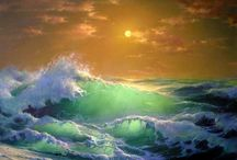 Meer/Wasser malen