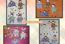 Bricolages souvenirs des copains par les p'tits loulous de Gaëla / Bricolages et activités des enfants/assistante maternelle