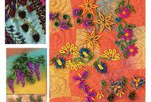 Bead seed simple embroidery