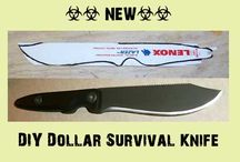 DIY. HOW TO MAKE A DOLLAR SURVIVAL KNIFE.