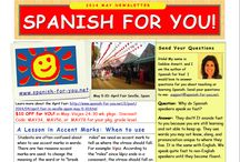 Newsletter Spanish for You! / Filled with ideas for teaching and practicing Spanish, exclusive product offers, freebies, answers to readers' questions, and more! EASY ONE PAGE READ. Sent out once a month. SIGN UP HERE: http://www.spanish-for-you.net/contact.html