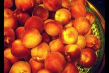 Ripe white peaches for jam