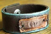Leather Cuffs / bracelets