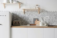 Hexagon Tiles in the Kitchen / We think it's about time we see more of this popular geometric shape in the kitchen.  / by Fireclay Tile