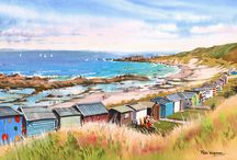 Rob Wigham Watercolours 5 / Watercolours of Moray, Aviation and the wonderful Moray Coastline.