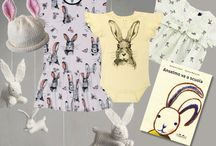 Rabbit Hop, Hop, Hop! s/s15 / One of the cutest animals, great character of the o ur childhood stoires, hops on soft cotton t-shirts and dresses and becomes on of the most wanted pattern for home decor pieces. Let's welcome the year of the rabbit.