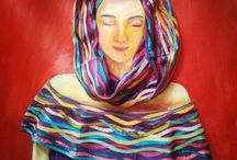 chula paintings / painting, embroidery, dresses...difficult to describe