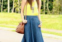 Faldas y vestidos jeans