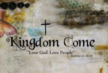 Kingdom Come Online Workshop / This online workshop is a 5 week journey to get to know the Lord Jesus Christ through creative art journaling. I as the instructor am very proud of the work my students have produced. This is a board dedicated to them and Him!!