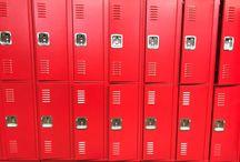 Tecumseh-Harrison Elem School - Vincennes, IN #DeBourgh #Lockers / #Rebel #SentryTwoLatch #RedHammer #BlueHammer #PianoHinge #LouveredVentilation #SlopeTop #ClosedBase #Lockers #DeBourgh