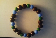 Nianbracelets! Also known as original ianbracelets! / Bracelets made from natural materials.  Wooden beads as base and gemstones!