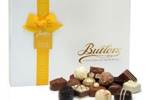Chocolate Gifts / Butlers Chocolates make the perfect gift. Each luxurious box is packed with a mouth-watering selection of exceptional chocolate truffles and pralines in milk, dark and white chocolates.