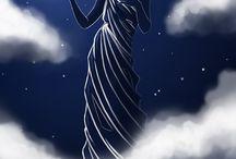 Goddess Nyx / Greek goddess of the night  / by Audrey Moon