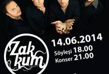 Zakkum konseri / 14 Haziran Cumartesi günü  Taurus Avm'de gerçekleşen Zakkum konser etkinliği.