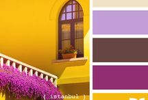 Color Swatches Yellow/Purple / by Sadie Rosenthal