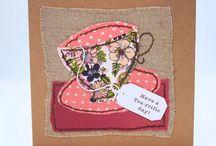 Fabric cards handmade