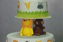 Animals and cake