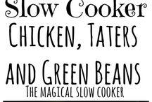 Slow cook food