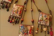necklace textil
