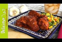 Pollo en achiote